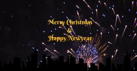 Christmas & Newyear poster template
