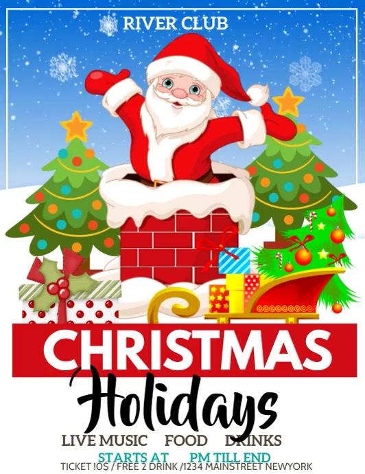 Christmas ,Christmas holiday Pamflet (VSA Brief) template