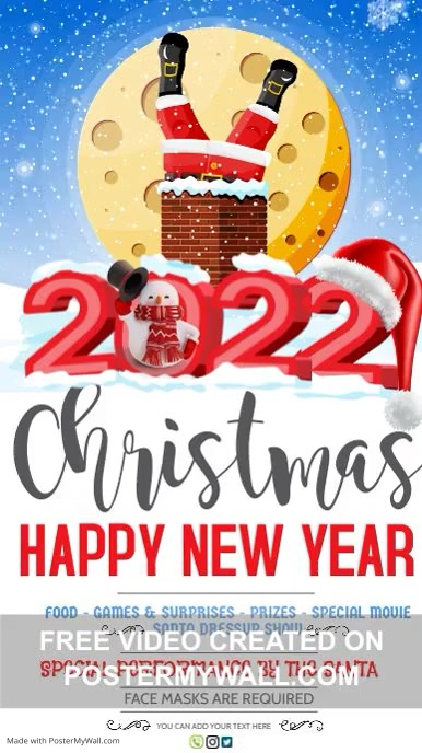 Christmas ,new year, Winter wonderland Tampilan Digital (9:16) template