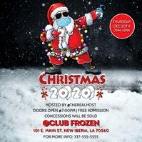 CHRISTMAS 2020 SANTA CORONA FLYER TEMPLATE Instagram Post