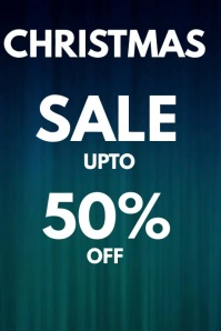 CHRISTMAS 50% SALE FLYER