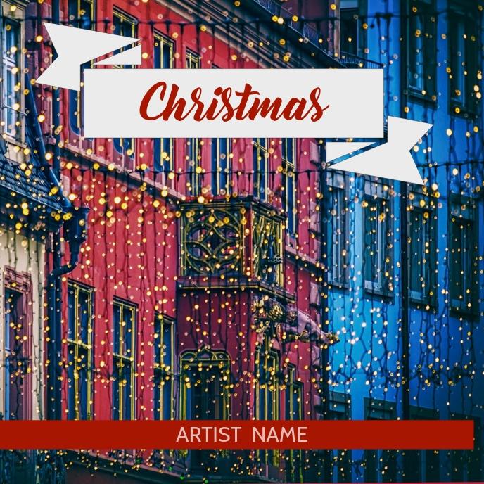 Christmas album art template