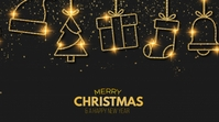 Christmas and A Happy New Year Digitalt display (16:9) template