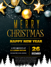 Christmas and Happy New Year Party Flyer
