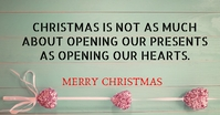 CHRISTMAS AND HEART QUOTE TEMPLATE Facebook Shared Image
