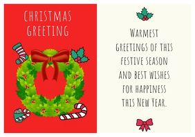 CHRISTMAS AND NEW YEAR CARD 2019 A4 template