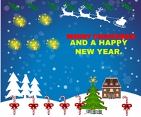 CHRISTMAS AND NEW YEAR QUOTE TEMPLATE สามเหลี่ยมขนาดกลาง