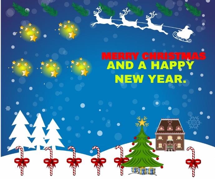 CHRISTMAS AND NEW YEAR QUOTE TEMPLATE Persegi Panjang Sedang