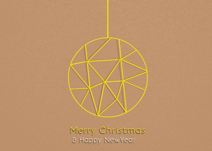 Christmas and newyear greeting card poster