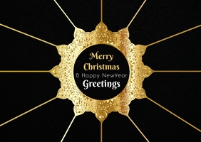 Christmas and newyear greeting poster