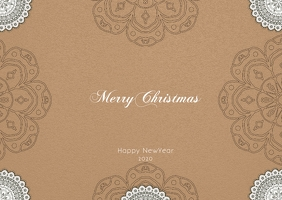 christmas and newyear postcard