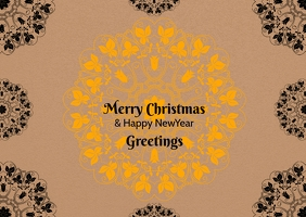 christmas and newyear postcard template