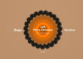 Christmas and newyear postcard template
