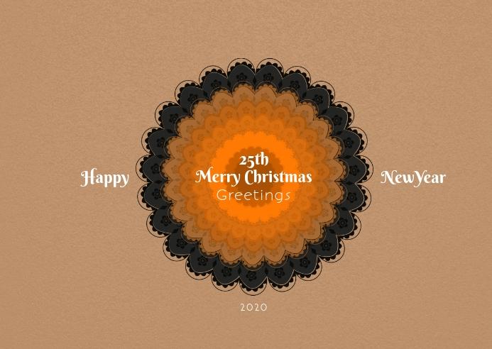 Christmas and newyear postcard