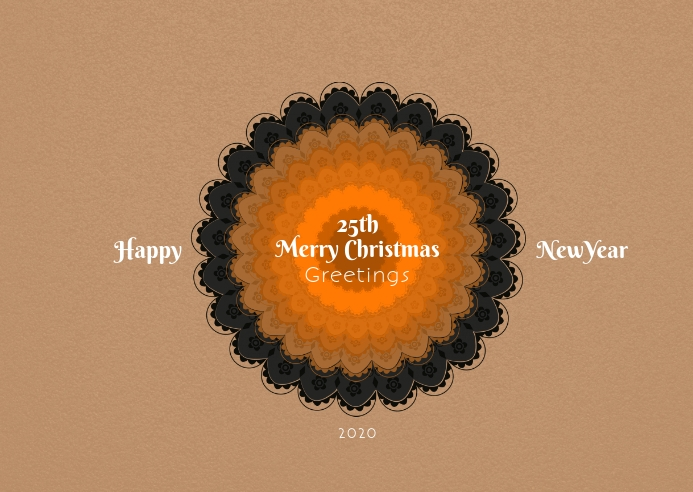 Christmas and newyear postcard 明信片 template