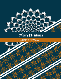 christmas and newyear posters 传单(美国信函) template