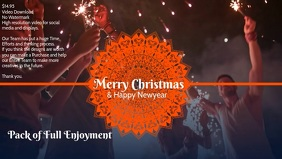 Christmas and newyear video poster template