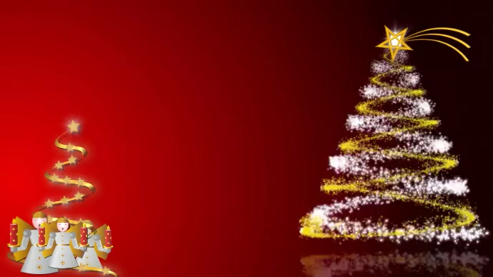Christmas Angels Zoom Background Video/Audio template