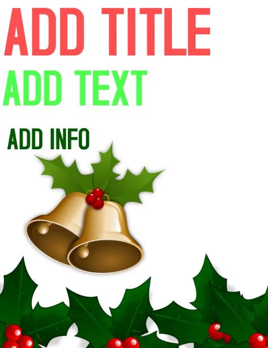 CHRISTMAS BACKGROUND Folder (US Letter) template