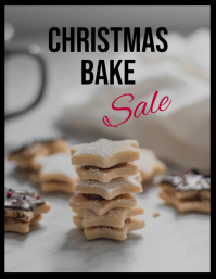 Christmas bake sale biscuits fundraiser Flyer (US Letter) template