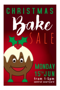Christmas pudding Bake Sale
