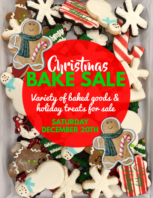Christmas Bake Sale Flyer Template Postermywall
