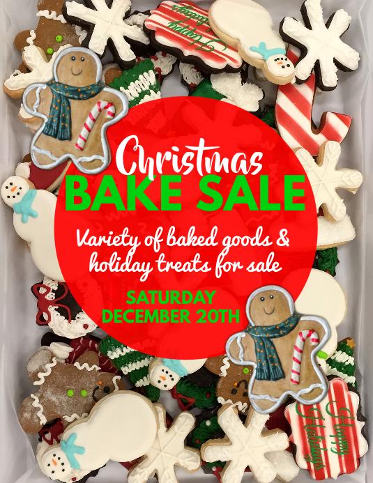 Christmas Bake Sale Flyer