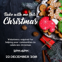 Christmas baking volunteering