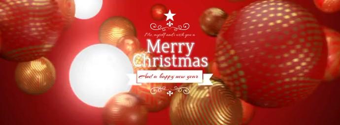 Christmas Balls Facebook Cover template
