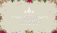 Christmas banner Mærke template
