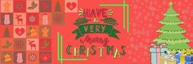 Christmas Banner Template Bannière 2' × 6'