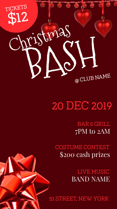Christmas bash party