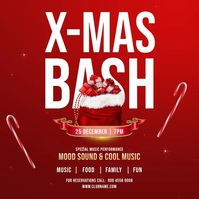 Christmas Bash Party Flyer Pos Instagram template