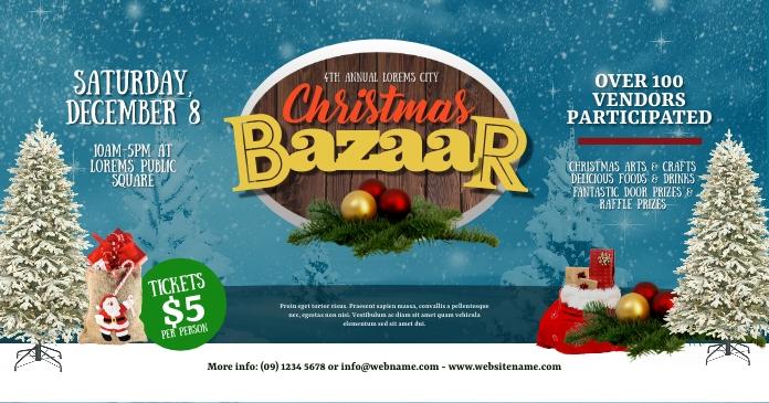 Christmas Bazaar Facebook Shared Image template