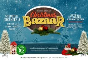 Christmas Bazaar Postcard template