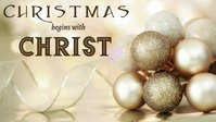 Christmas begins with Christ YouTube Thumbnail template