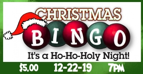 Christmas Bingo Facebook Event Cover template