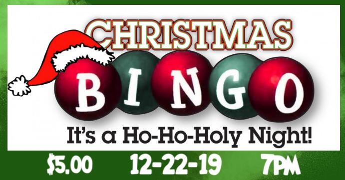 Christmas Bingo Sampul Acara Facebook template