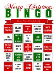 Christmas Bingo Flyer (US Letter) template