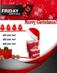 Christmas Black Friday Super Sale Template