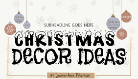 CHRISTMAS BLOG HEADER DESIGN TEMPLATE