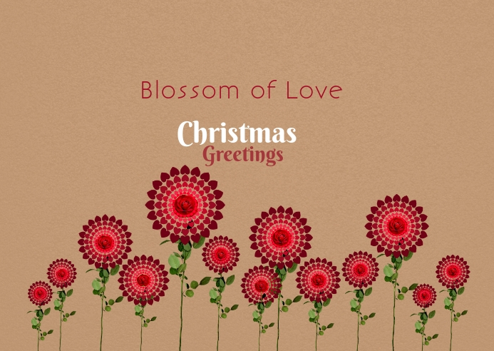 Christmas blossom love poster template
