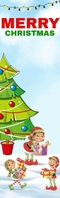 Christmas Bookmark Half Page Legal template
