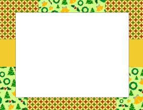 Christmas Border Pamflet (Letter AS) template