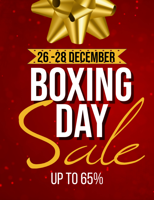 Christmas Boxing Day Flyer (Letter pang-US) template