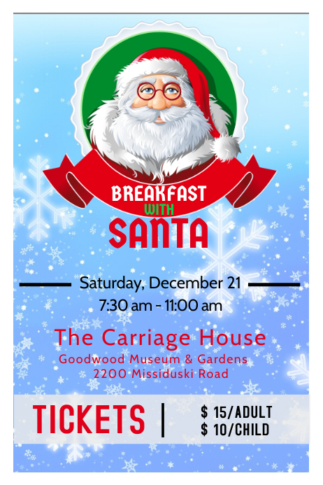 Christmas Breakfast With Santa Poster Template