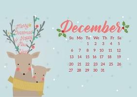 christmas calendar countdown design template Kartu Pos