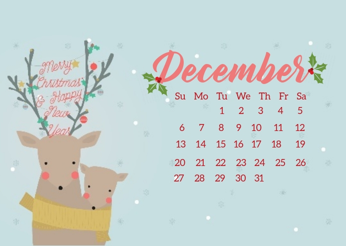 christmas calendar countdown design template Открытка
