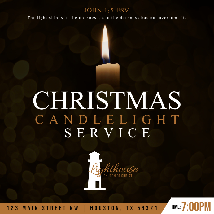 Christmas Candlelight Service Instagram-opslag template