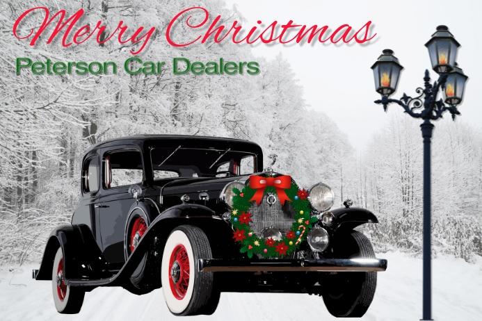 christmas/car sales/dealer/corporate/vintage